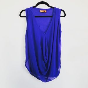 ✨3/$30✨COBALT BLUE DRAPE SLEEVELESS TOP